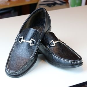 Robert Wayne San Marco Black Leather Loafers